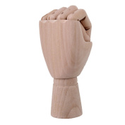 20cm Wooden Left Hand Body Artist Model Jointed Movable Fingers Wood Sculpture Mannequin