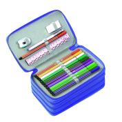 BTSKY® Handy Wareable Oxford Pencil Bag 72 Slots Pencil Organiser Portable Watercolour Pencil Wrap Case