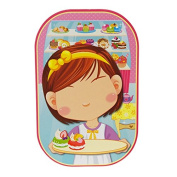 Funny Faces Sticker Set 3D, Girly Fun