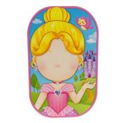 Funny Faces Sticker Set 3D, Pretty Princess
