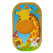 Funny Faces Sticker Set 3D, Goofy Giraffe