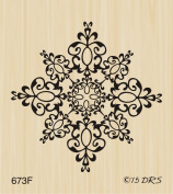 Medium Filigree Snowflake Rubber Stamp By DRS Designs Rubber Stamps