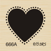 Small Silhouette Heart Rubber Stamp By DRS Designs Rubber Stamps