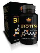 Me First Living Biotin 5,000 MCG | Stronger & Healthier Hair | Stronger, More Beautiful Nails | Healthier, More Radiant Skin | 120 Capsules | Made In USA! Vitamin B7 | Vegan Friendly