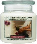 Premium 100% Soy Apothecary Candle - 470ml Double Wicked- Wedding Cake - A decadent blend of moist vanilla cake, cane sugar and creamy white frosting.