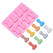 Cake mould dick ice cube tray Silicone Mould Soap Candle Moulds Sugar Craft Tools Bakeware Chocolate
