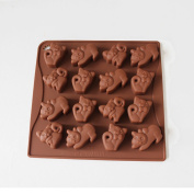X-Haibei Cute Cat Kittens Chocolate Candy Soap Jello Silicone Mould Kids Favours