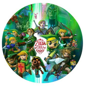 Legend of Zelda Edible Image Photo Cake Frosting Icing Topper Sheet Birthday Party - 20cm ROUND - 75751