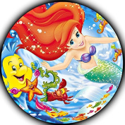 The Little Mermaid Ariel Image Photo Sugar Frosting Icing Cake Topper Sheet Birthday Party - 20cm Round - 75706