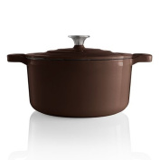 Food NetworkTM 3.3l. Enamelled Cast-iron Dutch Oven Chocolate Brown
