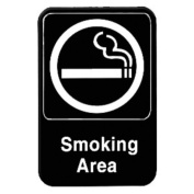 SMOKING AREA - Information Sign with Symbols Door Sign 6 x 9 by AmGood