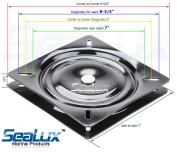 SeaLux Universal Heavy Duty 360 degree Seat Swivel Base Mount Plate for Bar Stool, Chair, boat or van pilot seat 18cm - 22cm