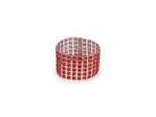 Sparkles Make It Special 100-pcs Rhinestone Napkin Rings Wedding Party Diamond Red