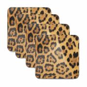 Leopard Print Coasters - Set of Four