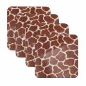 Giraffe Print Coasters - Set of Four