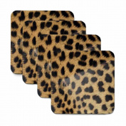 Cheetah Print Coasters - Set of Four