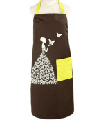 Creative Cute Butterfly Gril Apron Perfect Antifouling Effect-Coffee