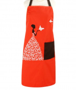 Creative Cute Butterfly Gril Apron Perfect Antifouling Effect-Orange