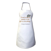 """Food Is Family, Family Is Life, Life Is Everything"" - George Calombaris Apron"