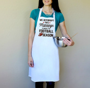 We Interrupt This Marriage To Bring You Football Season 100% Cotton Apron