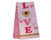 Valentine's Love Cotton Kitchen or Bathroom Towels- 46cm X 70cm - 2PK