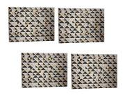 Set of 4 Threshold Placemats Silver/Gold