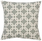 Grey and Natural Gotcha Chainlink Pillow Cushion Cover