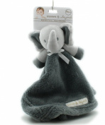 Blankets and Beyond Grey Blue Elephant Baby Security Blanket Plush