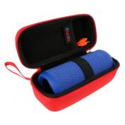 Khanka Hardshell EVA Storage Carrying Travel Case Bag for JBL Flip 1 / 2 / 3 Splashproof Portable Wireless Bluetooth Speaker