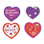 Design It Yourself Foam Valentine Craft Kit ~ 24 Hearts / 832 Foam Stickers ~ New