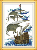 Happy Forever Cross Stitch, The scenery sailing boat, A long voyage 3