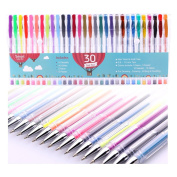 Smart Colour Art - 30 Colour Premium Gel Pen Set | Colours Included