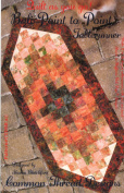 Bali Point to Point Table Runner Pattern, Strip Quilt as You Go, Finished Size 47cm x 110cm , Batik & Jelly Roll Bali Pop Friendly