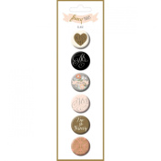 My Minds Eye Fancy That Flair Button Pins 6/Pkg-Tux