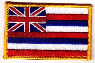 HAWAII STATE FLAG, Hawaiian Islands, Iron On Embroidered Patch, Hawaii,Aloha
