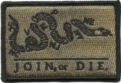 Join Or Die Tactical Patch - Coyote Tan by Gadsden and Culpeper