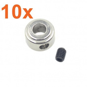 10pcs Landing Gear Wheel Stop Set Collar 9x4.1 mm For RC Model Aeroplane Parts Foam Electric KT Replacement DIY