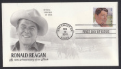 President Ronald Reagan Collectible ArtCraft First Day Cover Stamp Cachet FDC 4494