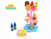 Little Treasures Sweet Treats 18 piece Desserts Ice Cream pretend and play funny playset toy toy for kids
