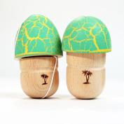 Bahama Kendama Double Mushroom Pill Kendama- Green over Yellow