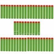 Yosoo 100pcs Toy Gun Bullet Darts Refill Sponge EVA Round Head Soft Bullet Darts for Nerf N-strike Elite Series Blasters Kid Toy Gun