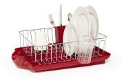 Farberware Professional 3 Piece Dish Rack Set, Red