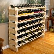 VinoGrotto 84 Bottle Long Scalloped Wine Rack (Pine) by VinoGrotto - Easily stack multiple units - hardware and assembly free. Hand-sanded to perfection!, Pine