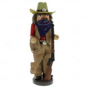 Home on the Range Western Ranger with Lasso Cowboy Christmas Nutcracker 38cm