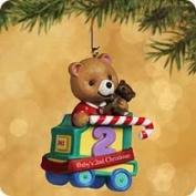 Baby's second Christmas 2002 Child's age collection qx8333 Hallmark keepsake Christmas ornament bear train