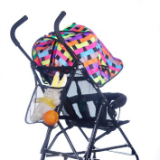 Tonsee Baby Kids Stroller Hanging Bags Accessories Bottle Nappy Net Bag Black
