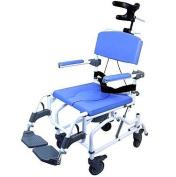 Tilt Shower Commode Bath Toilet Transport Chair with 13cm casters Aluminium