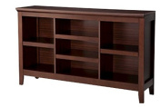 Carson Horizontal Bookcase in Chestnut