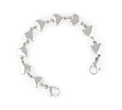 Medical ID Stainless Steel Heart Link Bracelet - Child/Small Adult