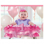 Amscan Deluxe 1st Birthday Pink Tutu High Chair Decoration